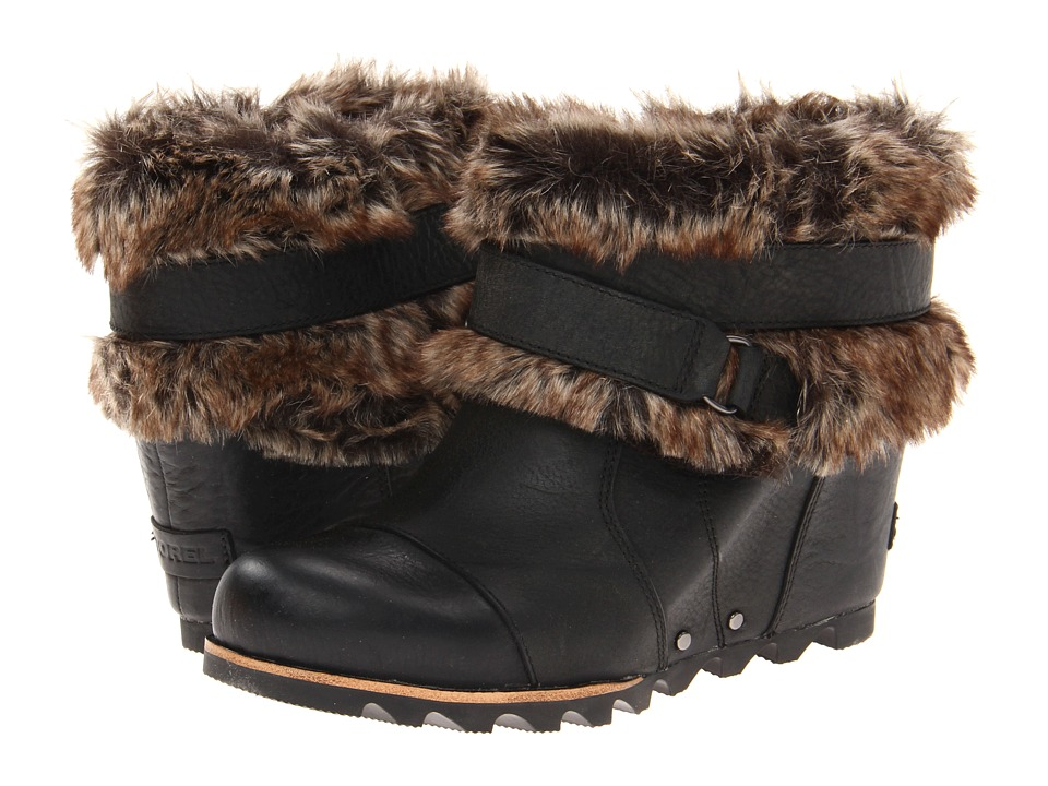 SOREL - Joan Of Arctic Wedge Ankle (Black) Women's Waterproof Boots
