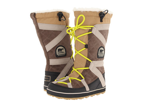 SOREL - Glacy Explorer (Saddle/Raft) Women's Cold Weather Boots