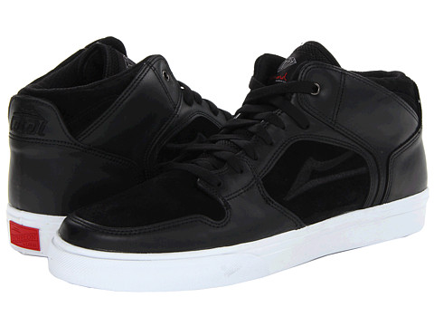 Lakai - Telford x Diamond (Black Leather) Men's Skate Shoes