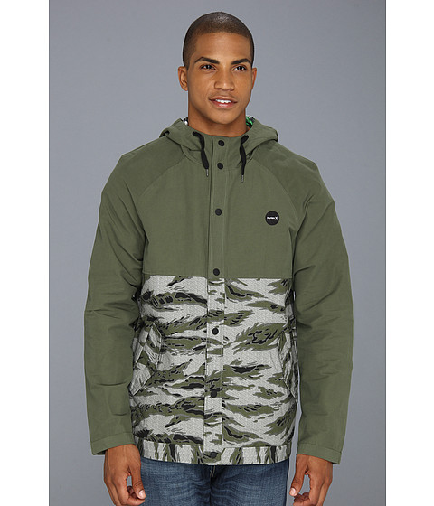 Hurley - Cool By The Pool Flammo Jacket (Combat) Men's Coat