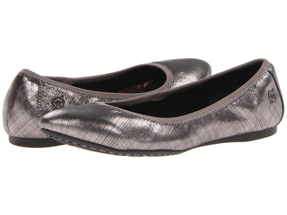 Born - Halle (Silver Textured Metallic) Women's Flat Shoes