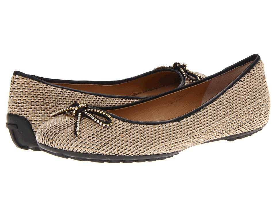 Isaac Mizrahi New York - Faun (Natural/Black) Women's Flat Shoes