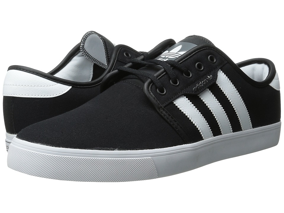 adidas Skateboarding - Seeley (Black/White/Black (Canvas)) Men