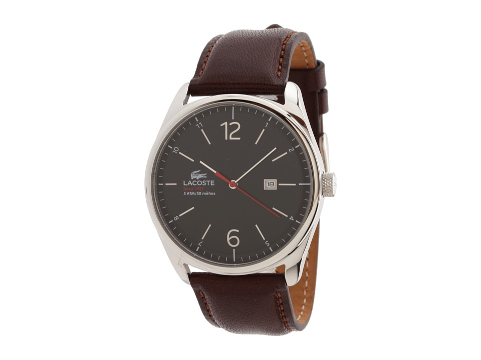Lacoste - 2010682 Austin Leather Strap Watch (Brown/Black) Watches