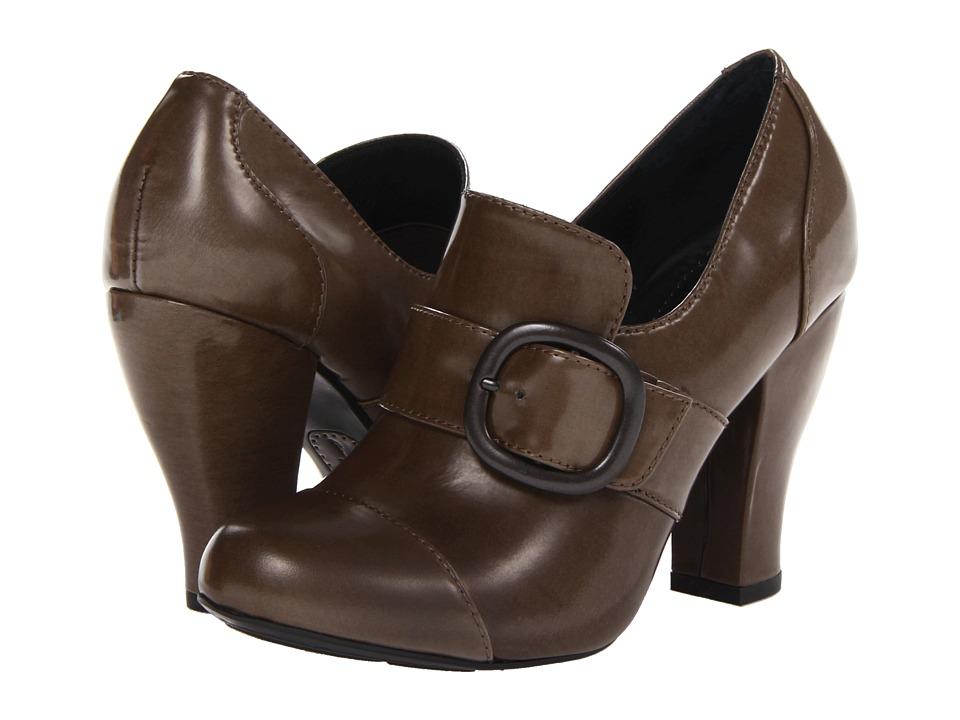 Born - Cecilia - Crown Collection (Asfalto (Taupe) Box Calf) High Heels