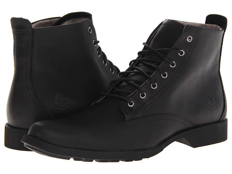 Timberland - Earthkeepers City Lite Waterproof Boot (Black Smooth) Men