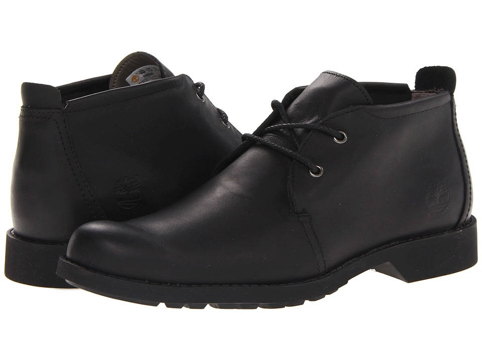 Timberland - Earthkeepers City Lite Waterproof Chukka (Black Smooth) Men's Shoes