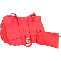 Baggallini Melbourne Satchel (Coral/Mustard) Satchel Handbags