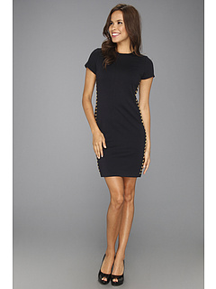 SALE! $96.99 - Save $78 on MICHAEL Michael Kors Ponte Cap Grommet Dress (Navy) Apparel - 44.58% OFF $175.00