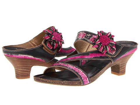 Spring Step - Amethyst (Black Leather) Women's Sandals