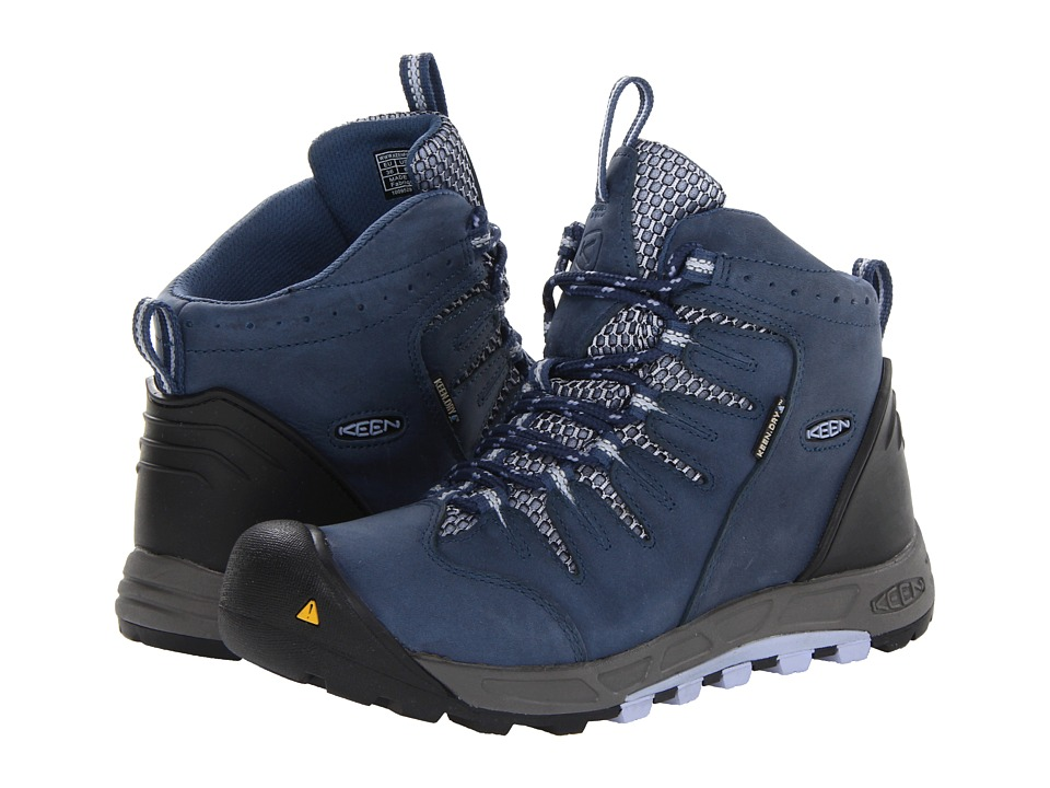 Keen - Bryce Mid WP (Blue Indigo/Eventide) Women's Hiking Boots