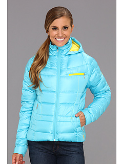 SALE! $132.38 - Save $93 on Spyder Timeless Hoodie Down Jacket (Splash Taxi Taxi) Apparel - 41.16% OFF $225.00