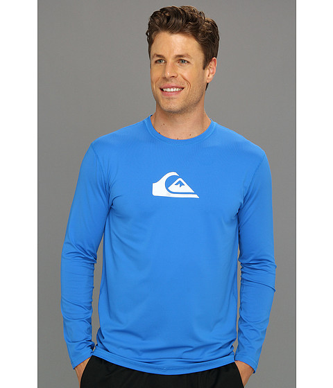 Quiksilver - Solid Streak Loose Fit Rashguard Tee (Blue) Men's Swimwear