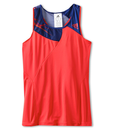 adidas Kids - Girl's Adizero Tank Top (Little Kids/Big Kids) (Hi Res Red/Hero Ink/Hi Res Red) Girl's Sleeveless