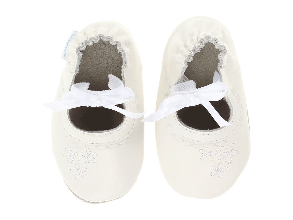 Robeez - Special Occasion Girl Soft Soles (Infant/Toddler) (White) Girls Shoes