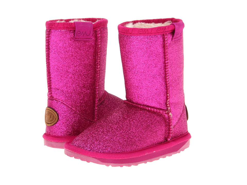 EMU Australia Kids - Sparkle (Toddler/Little Kid/Big Kid) (Hot Pink) Girls Shoes