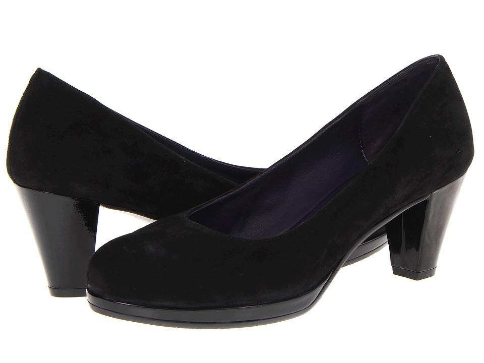 Vaneli - Laurice (Black Suede/Black Patent) High Heels