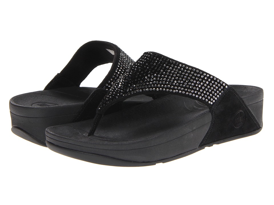 FitFlop - Flaretm Leather (Black Leather) Women's Sandals