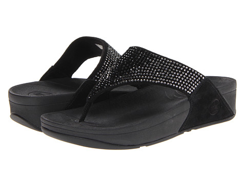 FitFlop - Flare Leather (Black Leather) Women's Sandals
