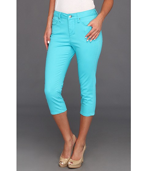 Jag Jeans Chloe Skinny Capri Solid Sanded Twill (Tropical Pool) Women's Capri