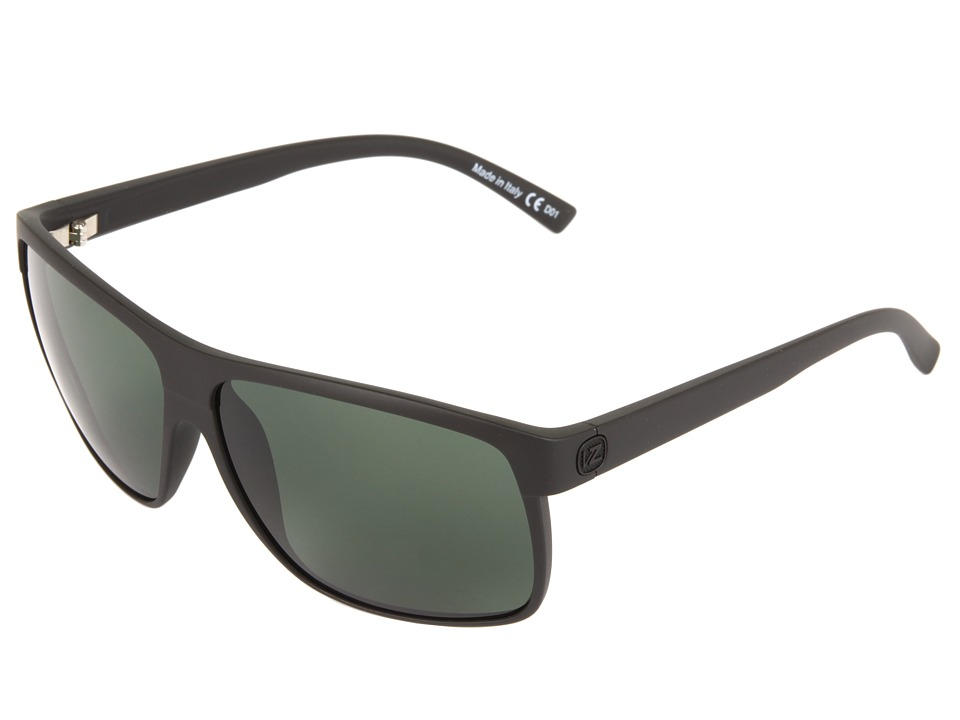 VonZipper - Sidepipe (Black Satin/Grey) Sport Sunglasses