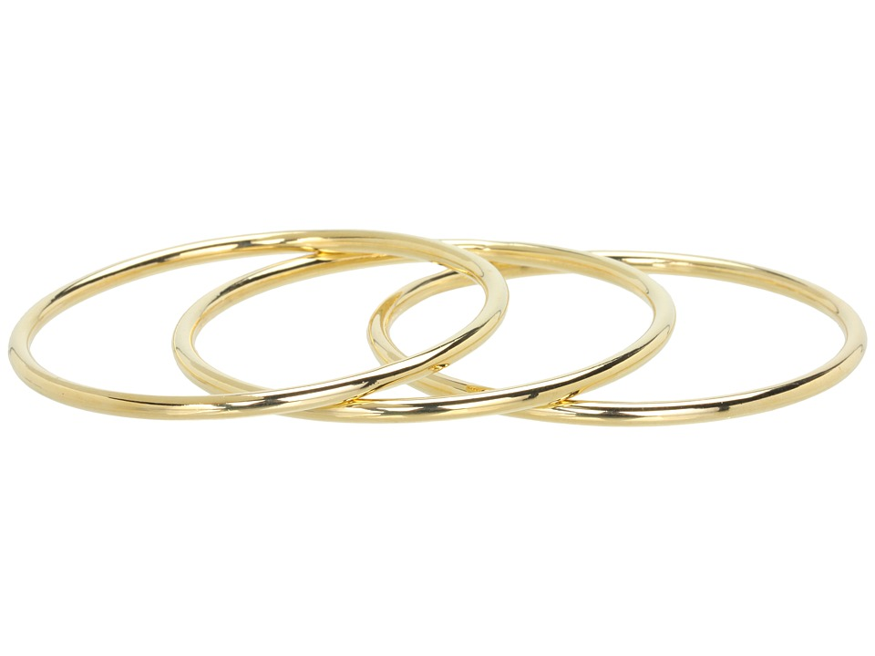LAUREN Ralph Lauren - 3 Tube Bangle Set (Gold) Bracelet