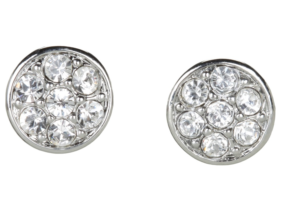LAUREN Ralph Lauren - Small Round Crystal Studs (Silver/Crystal) Earring