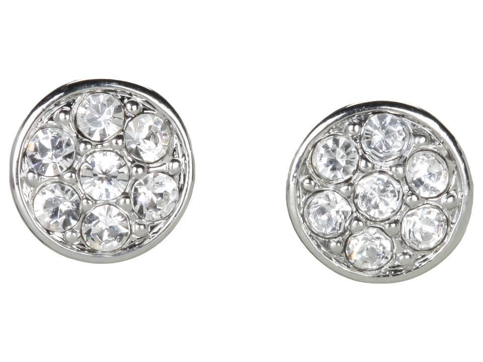 LAUREN Ralph Lauren - Small Round Crystal Studs (Silver/Crystal) Earring