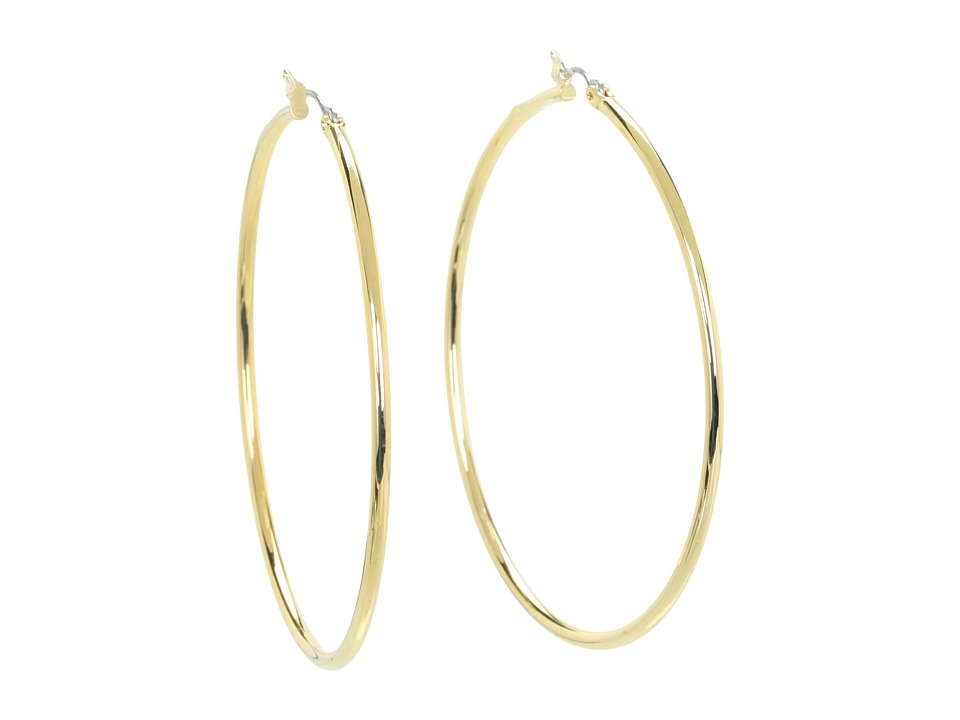 LAUREN Ralph Lauren - Large Thin Circle Hoops (Gold) Earring