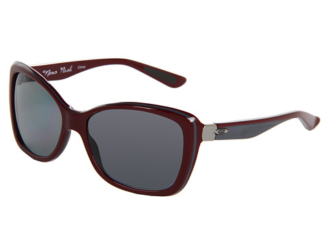 Oakley - News Flash (Pomegranate/Grey Polarized) Sport Sunglasses