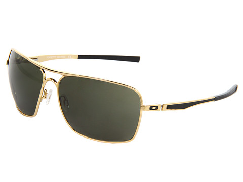 Oakley - Plaintiff Squared (Polished Gold/Dark Grey) Sport Sunglasses