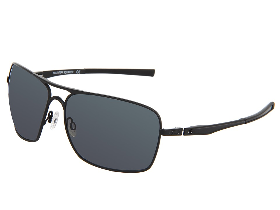 Oakley - Plaintiff Squared (Matte Black/Grey Polarized) Sport Sunglasses