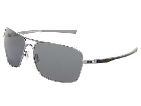 Oakley - Plaintiff Squared (Lead/Black Iridium) Sport Sunglasses