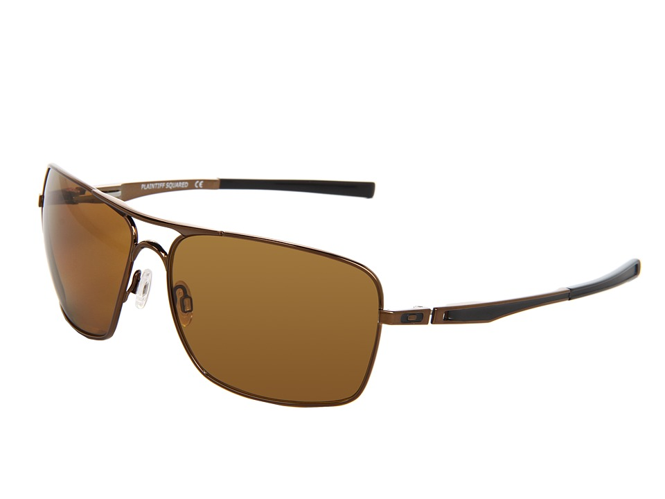 Oakley - Plaintiff Squared (Dark Brown Chrome/Bronze Polarized) Sport Sunglasses
