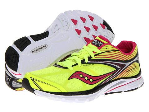 Saucony - Kinvara 4 W (Citron/Black/Pink) Women's Running Shoes
