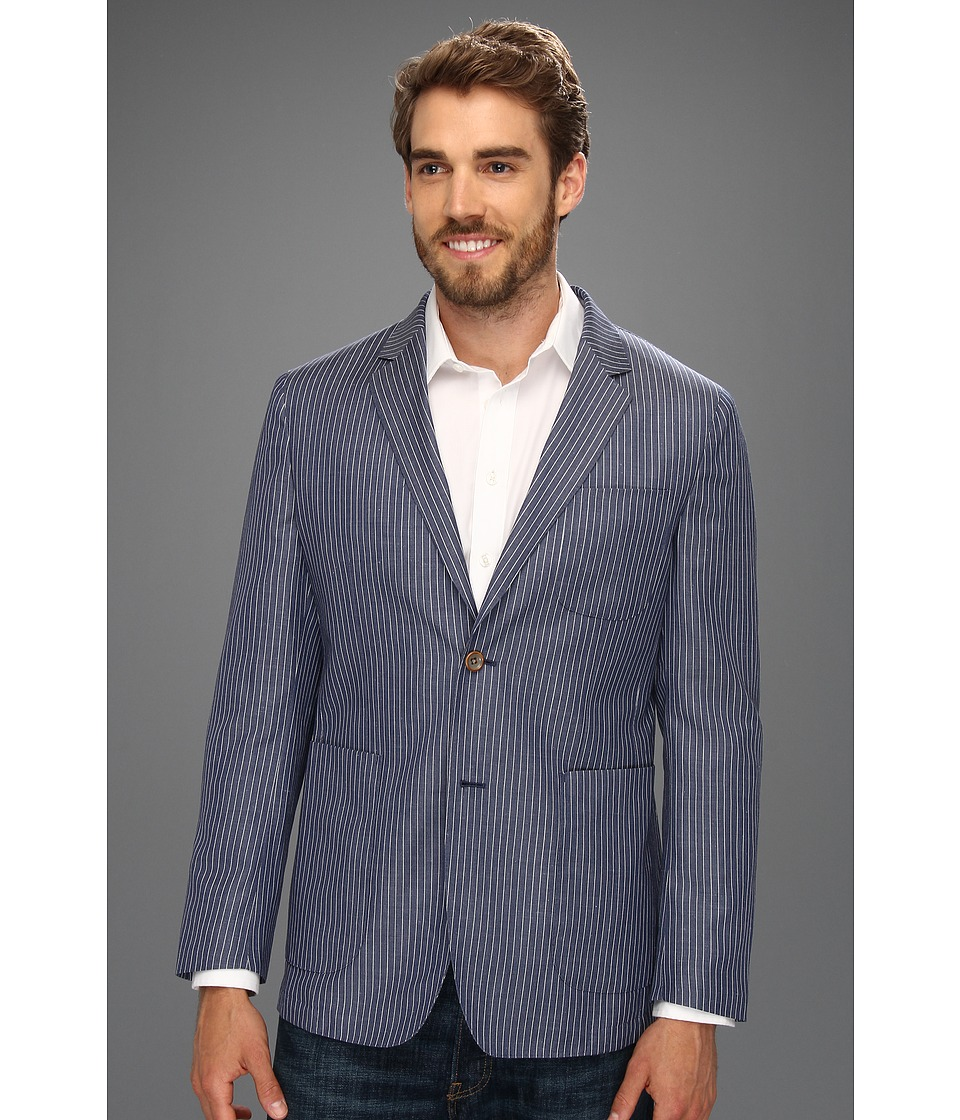 Scott James - Trey Blazer (Navy Stripe) Men's Jacket