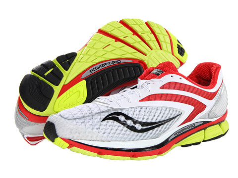 Saucony - Cortana 3 (White/Red/Citron) Men's Running Shoes