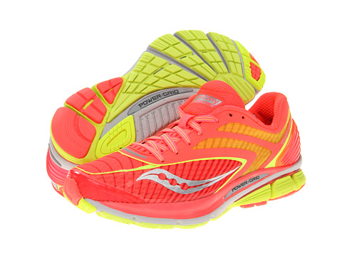 Saucony - Cortana 3 W (Vizipro Coral/Citron) Women's Running Shoes