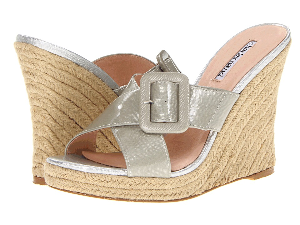 Charles by Charles David - Nelly (Silver Patent) Women's Wedge Shoes