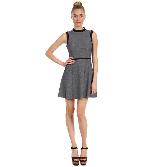 tibi - Honeycomb Dotted Knit Sleeveless Dress (Black/White Multi) Women's Dress