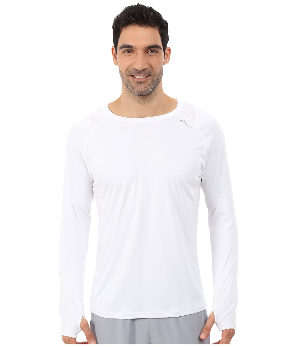 ASICS - Favorite L/S Top (White) Men's Long Sleeve Pullover