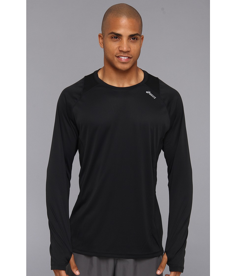 ASICS - Favorite L/S Top (Black) Men's Long Sleeve Pullover
