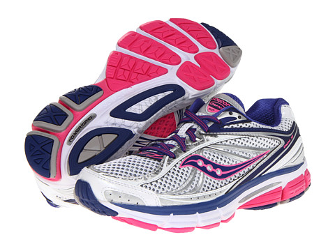 Saucony - Omni 12 W (White/Blue/Pink) Women's Running Shoes