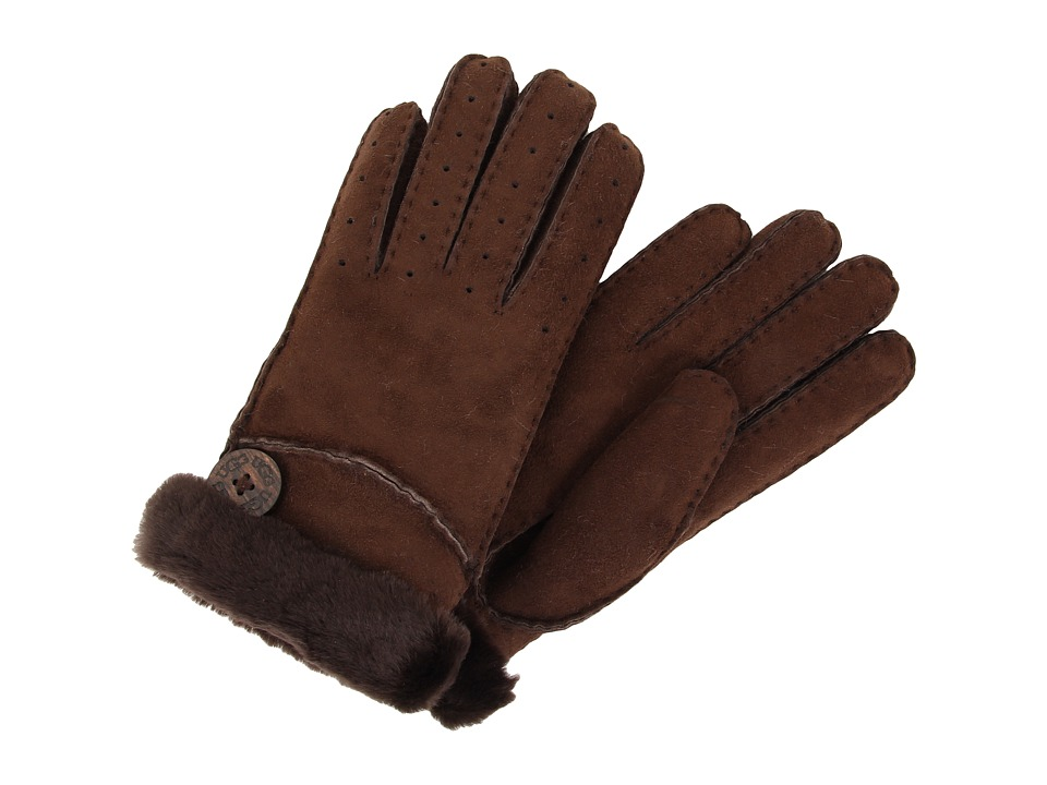 UGG - New Bailey Glove (Chocolate) Dress Gloves