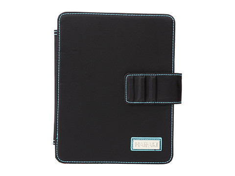 Hadaki - Mardi Gras Solids - Nylon Tablet Wrap (Black/Aqua) Wallet