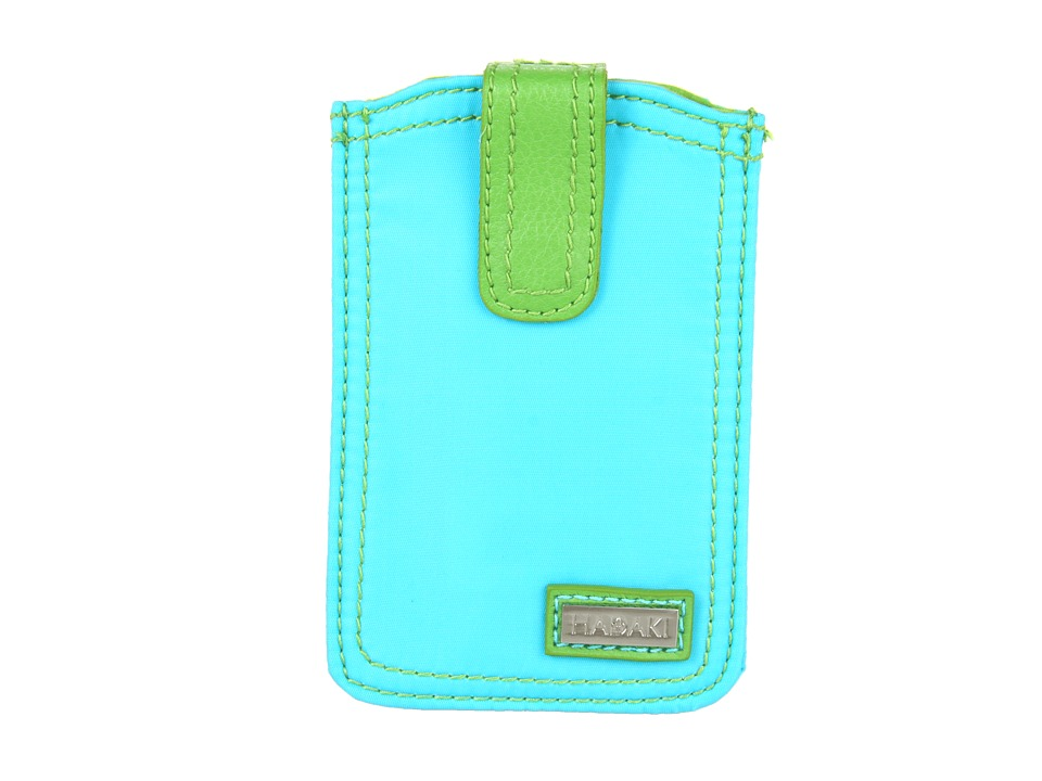 Hadaki - Mardi Gras Solids - Phone Pod (Aqua/Apple) Wallet