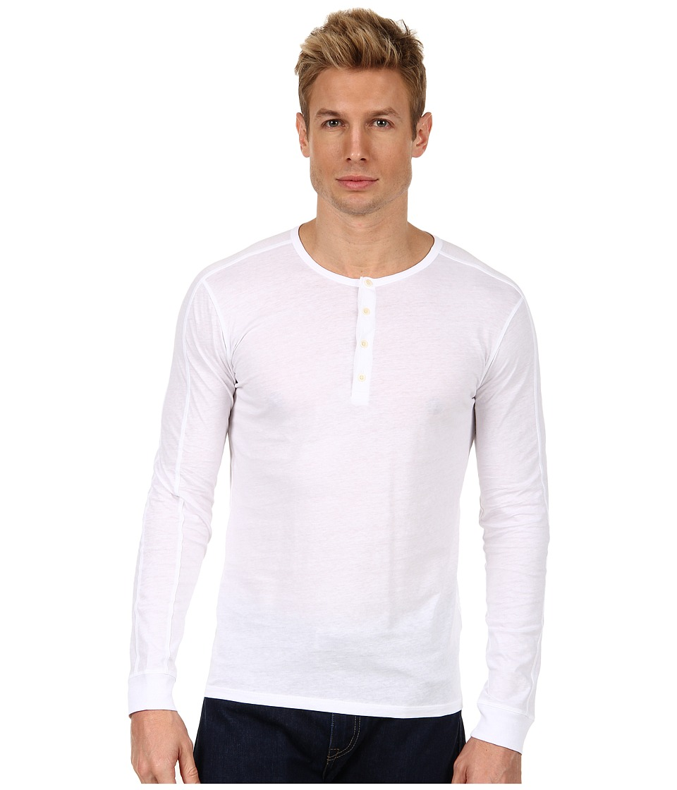 Vince - Henley (White) Men's Long Sleeve Pullover