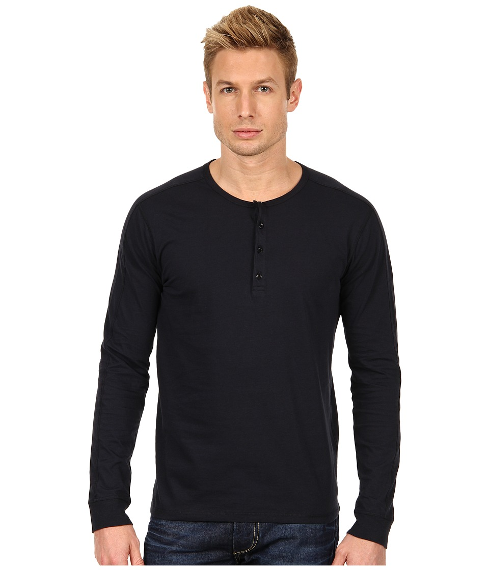 Vince - Henley (Coastal Blue) Men's Long Sleeve Pullover