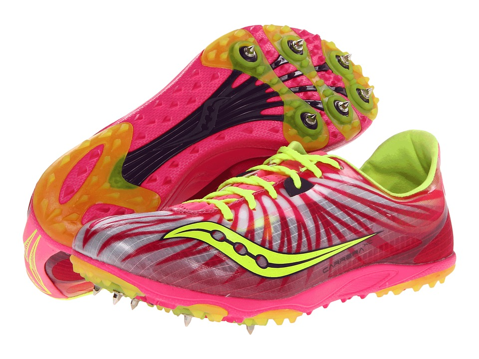 Saucony - Carrera XC W (Pink/Citron) Women's Running Shoes