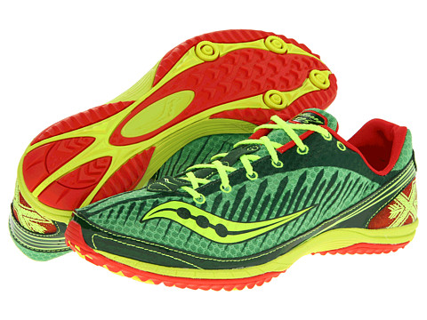 Saucony - Kilkenny XC5 Flat (Green/Citron) Men's Running Shoes